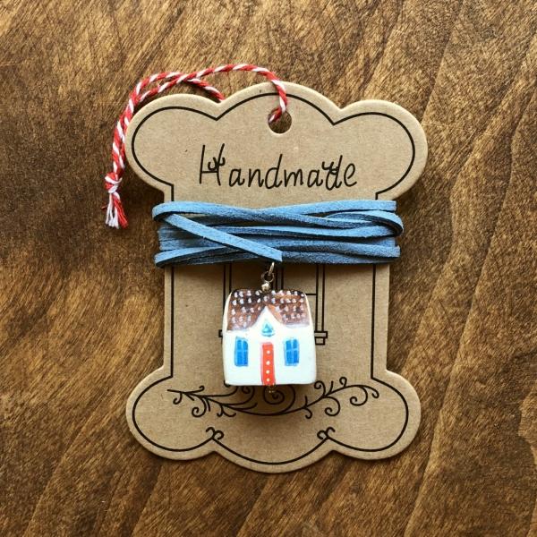 Căsuță cu șnur pictată manual Little Houses model 3 0
