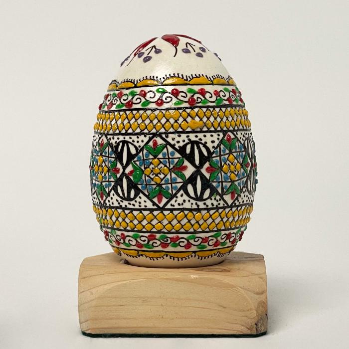 Ou de gâscă încondeiat model 8 0