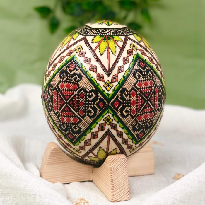 Ou de struț încondeiat model 3 2