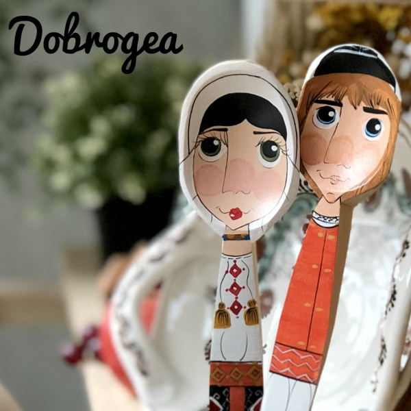 Lingură pictată manual - mândră din Dobrogea 2