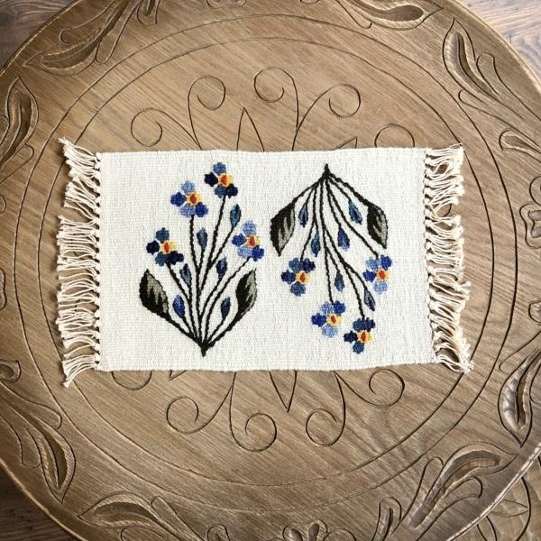 Carpetă 35x20 cm motiv flori de câmp albastre 0