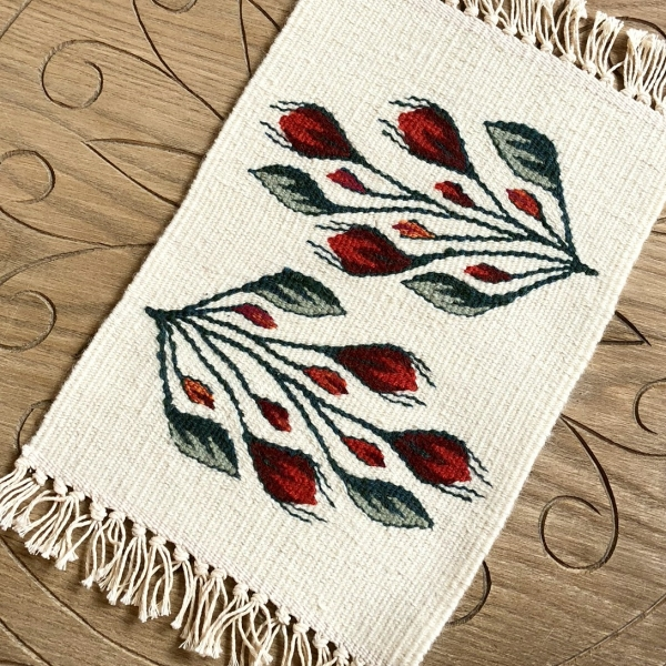 Carpetă 35x20 cm motiv boboci de trandafiri [0]