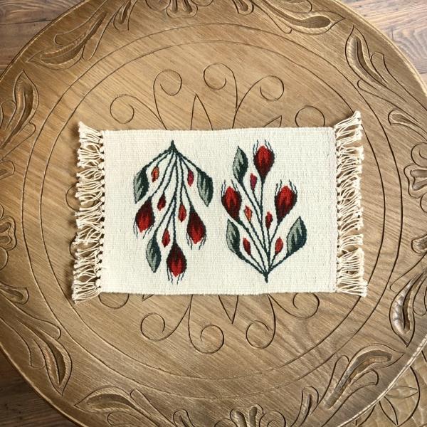 Carpetă 35x20 cm motiv boboci de trandafiri [2]