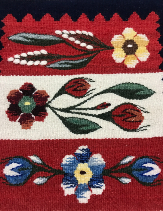 Carpetă motiv mărgăritar - model roșu  54 x 30 cm 5