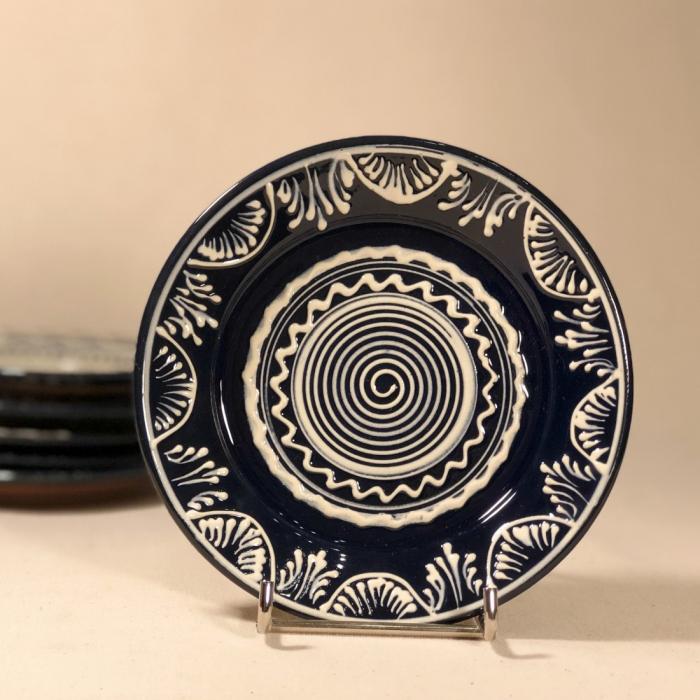 Farfurie albastră Ø 14 cm model 4 0
