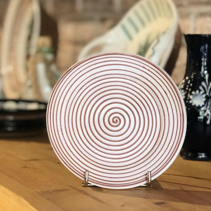 Farfurie alb maro Ø 14 cm model 4 0
