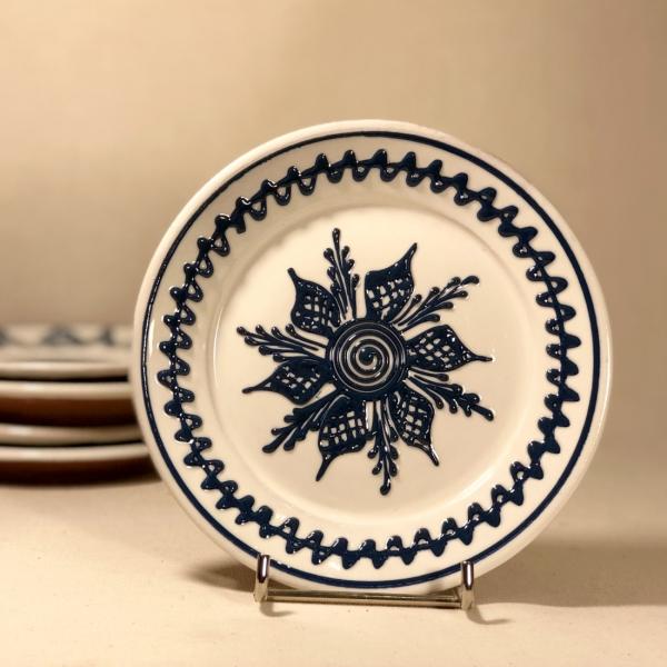 Farfurie alb albastră Ø 14 cm model 2 0