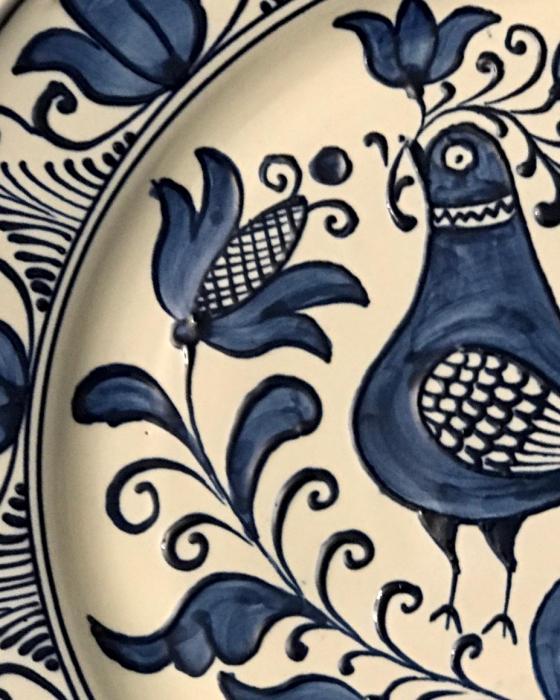 Farfurie alb-albastră Ø 20 cm model 10 2