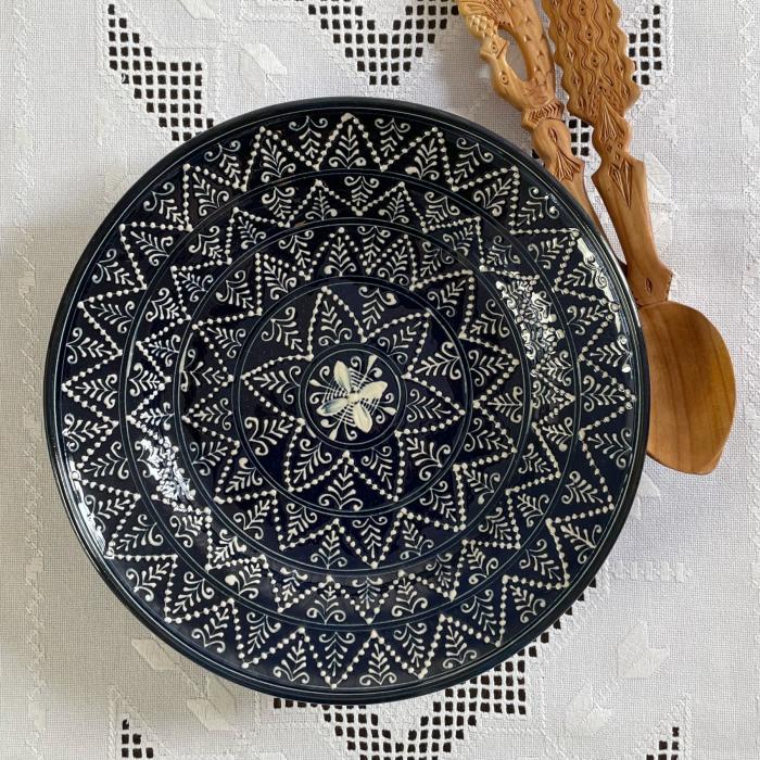 Farfurie albastră Ø 28 cm model 1 4
