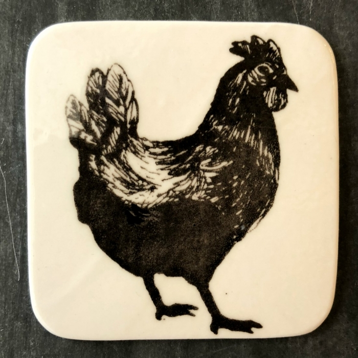 Magnet porţelan model găină 0