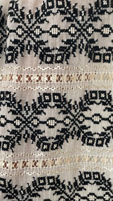 Ie mânecă lungă motiv Spirala negru-beige [5]