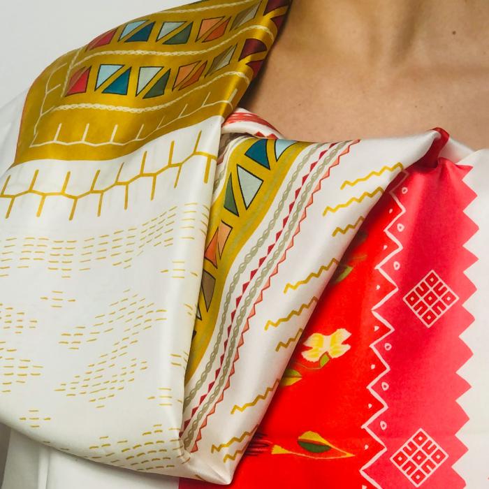 Eșarfă twill din mătase naturală Minunat by Irina, Nunta, 140 x 33 cm 1