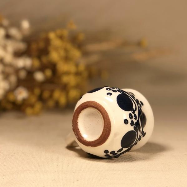 Pahar țuică alb albastru model 1 3