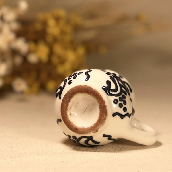 Pahar țuică alb albastru model 2 3