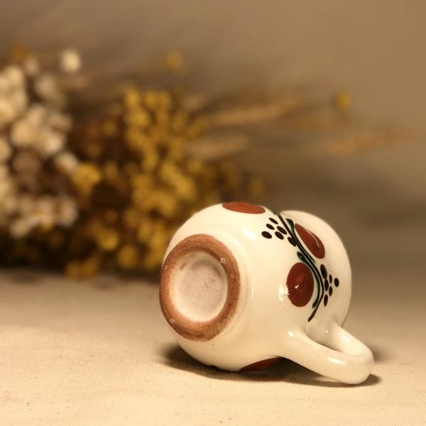 Pahar țuică alb maro model 1 3