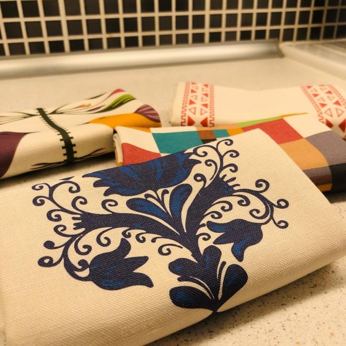 Șervet de bucătărie - Flori transilvănene 5