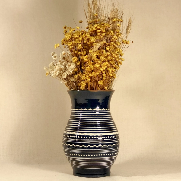 Vază albastră 20 cm model 2 0