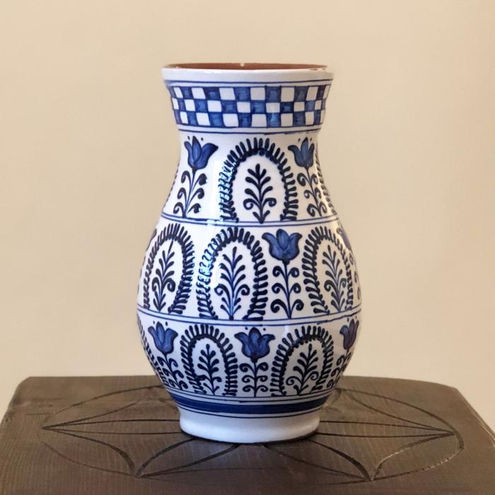 Vază alb-albastră model 2 0