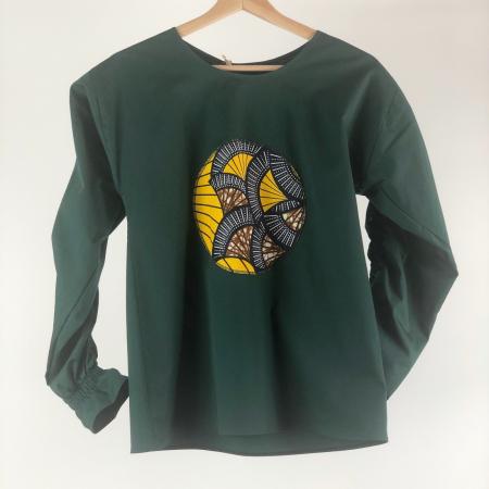 """Atelier Merci - Bluză """"Cu gândul la soare"""", culoare verde1"""