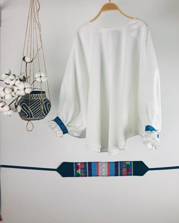 """Atelier Merci - Bluză """"Înțelepciunea este adevăr"""", culoare albă0"""