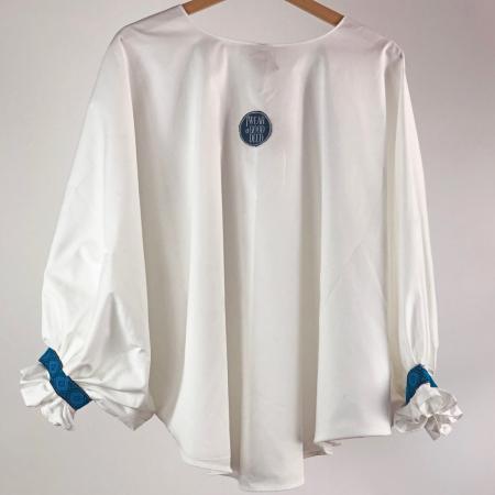 """Atelier Merci - Bluză """"Înțelepciunea este adevăr"""", culoare albă4"""