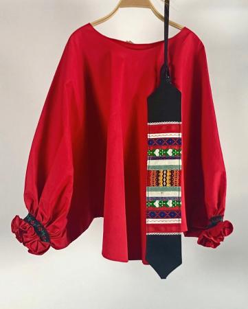 """Atelier Merci - Bluză """"Înțelepciunea este adevăr"""", culoare roșu0"""