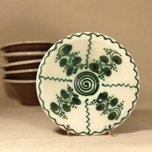 Bol alb verde Ø 15 cm model 10