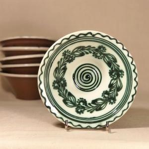 Bol alb verde Ø 15 cm model 20