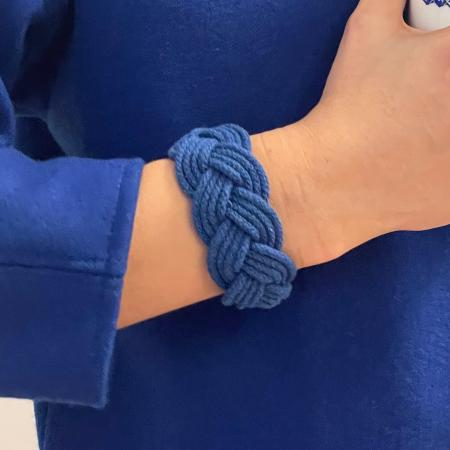 Brățară albastră împletită B-Loved0