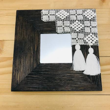 c u l c u ș - Tablou oglindă ramă pătrată1