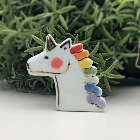 Ceramiceanu - Broșă porțelan unicorn [0]