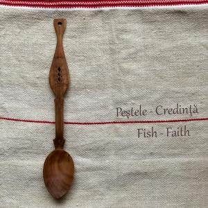 Lingura lemn cireş - Peștele1