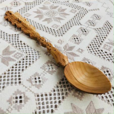 Lingură lemn cireș - Mirii 2 [2]