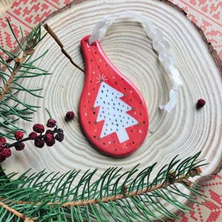 Gruni - ornament roșu brad [2]