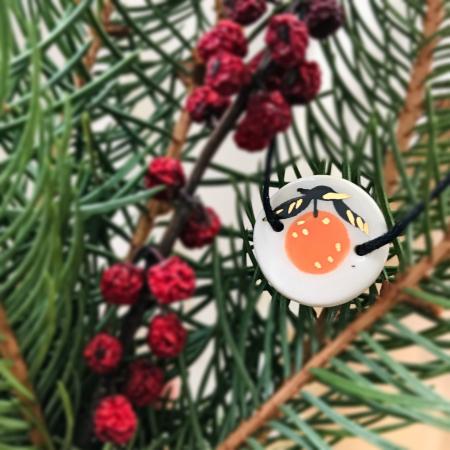 Gruni - Brățară nod culisant - portocală [0]