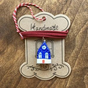 Căsuță cu șnur pictată manual Little Houses model 2 [1]