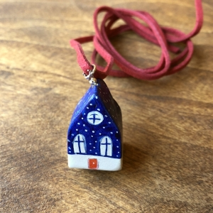 Căsuță cu șnur pictată manual Little Houses model 2 [0]
