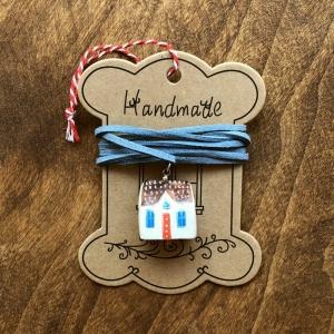 Căsuță cu șnur pictată manual Little Houses model 30