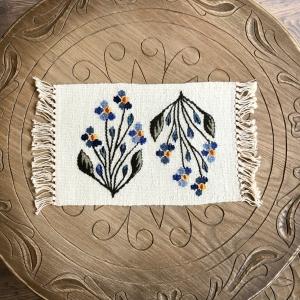 Carpetă 35x20 cm motiv flori de câmp albastre0