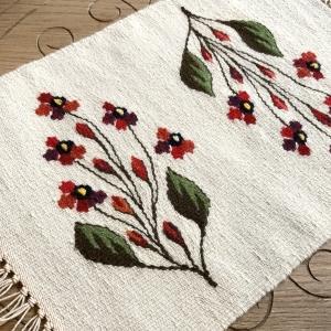 Carpetă 40x30 cm motiv flori de câmp roşii0