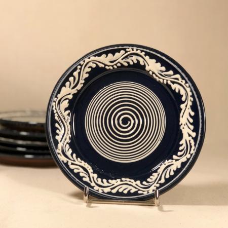 Farfurie albastră Ø 14 cm model 10