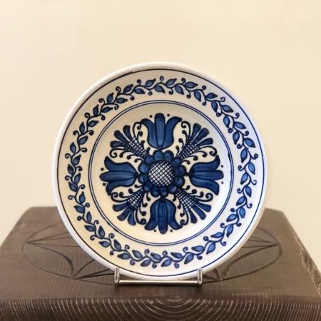 Farfurie alb-albastră Ø 16 cm model 20