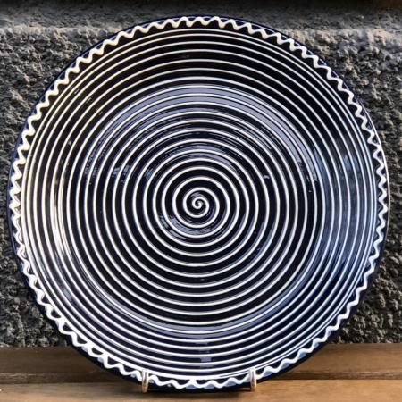 Farfurie albastră Ø 24 cm model 10