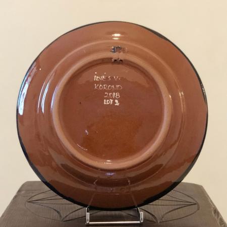 Farfurie albastră Ø 24 cm model 11