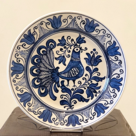 Farfurie alb-albastră Ø 24 cm model 3 [0]