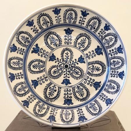 Farfurie alb-albastră Ø 28 cm model 30