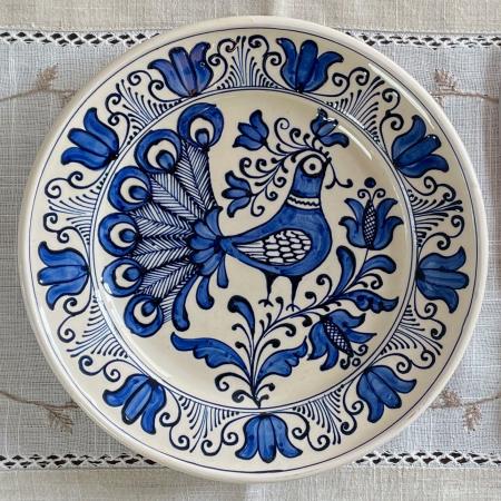 Farfurie alb-albastră Ø 20 cm model 11 [0]