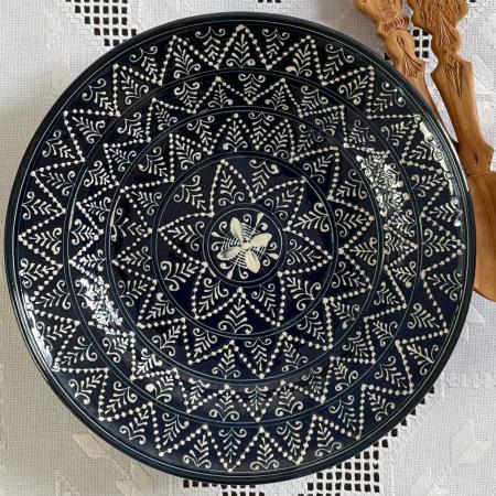 Farfurie albastră Ø 28 cm model 10