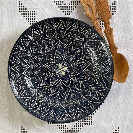 Farfurie albastră Ø 28 cm model 14