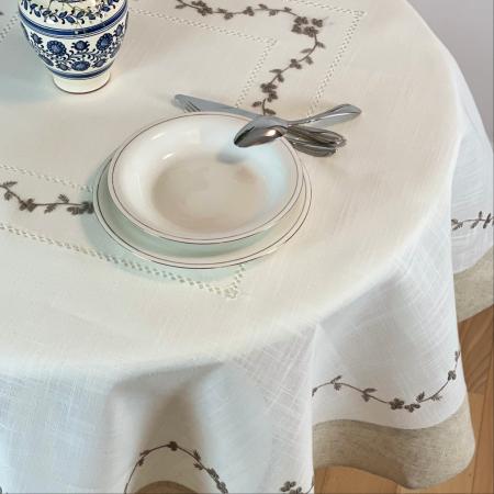 Față de masă rotundă - 1.7 m bordură gri [2]